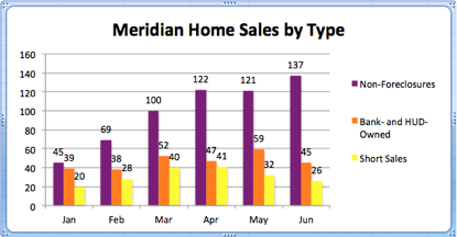 Meridian Idaho Home Sales by Type | June 2012