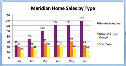 Meridian Idaho Home Sales by Type | June 2012